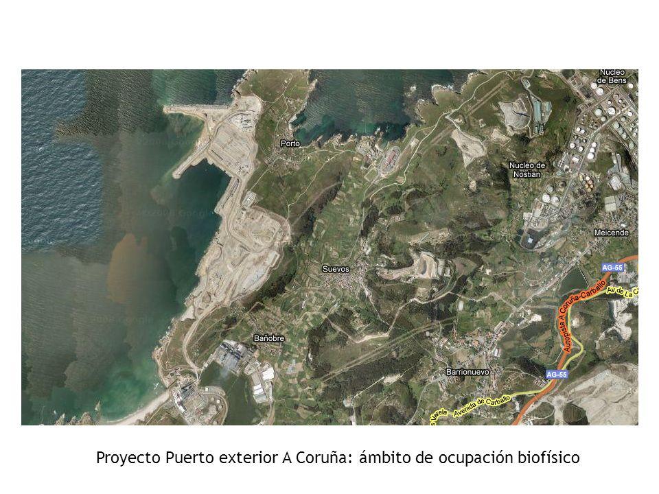 Proyecto Puerto exterior A Coruña: ámbito de ocupación biofísico