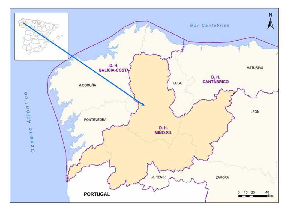 Demarcación Hidrográfica Miño-Sil -Aguas continentales superficiales -Estado ecológico -Estado químico -Aguas subterraneas -Estado cuantitativo -Estado químico -Aguas costeras y de transición PARTE ESPAÑOLA PARTE PORTUGUESA COOPERACIÓN