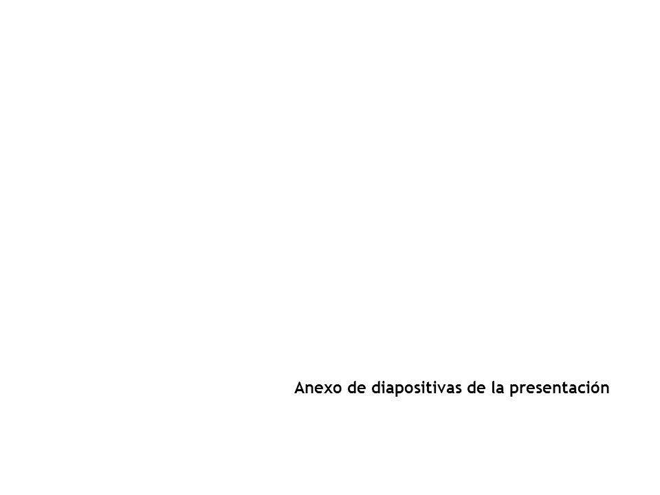 Anexo de diapositivas de la presentación