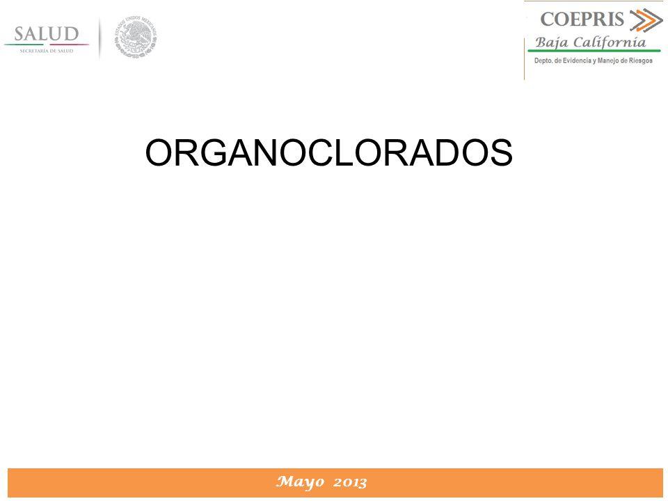 DIRECCION DE PROTECCION CONTRA RIESGOS SANITARIOS Mayo 2013 ORGANOCLORADOS