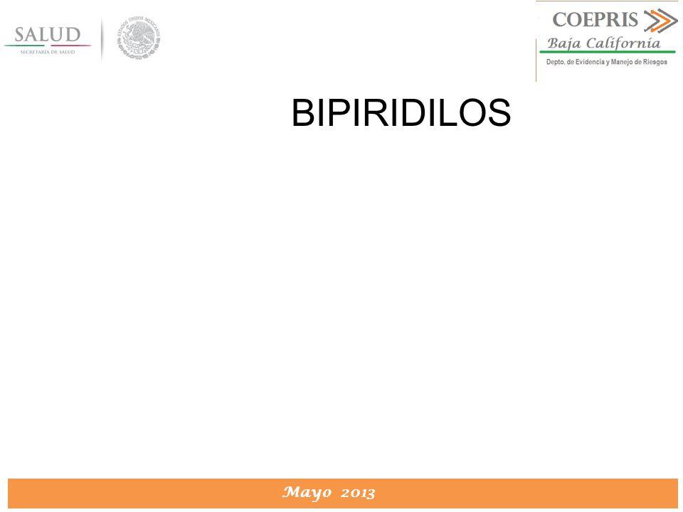 DIRECCION DE PROTECCION CONTRA RIESGOS SANITARIOS Mayo 2013 BIPIRIDILOS