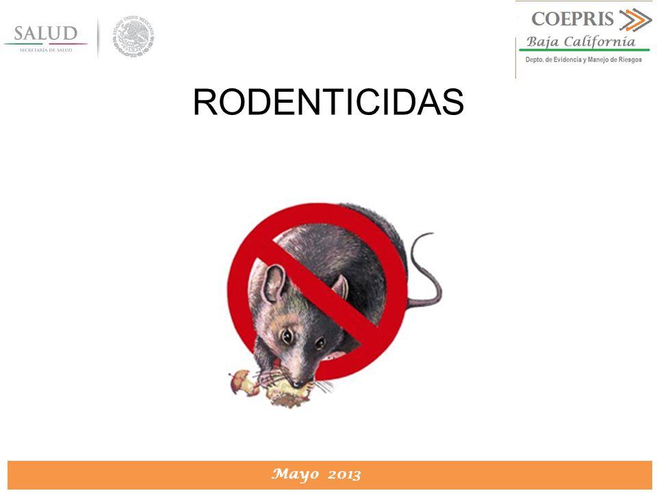 DIRECCION DE PROTECCION CONTRA RIESGOS SANITARIOS Mayo 2013 RODENTICIDAS
