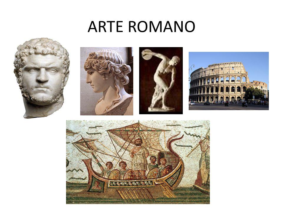 CARACTERISTICAS DEL ARTE ROMANO Preocupación, en la arquitectura, por el juego de masas que viene por los elementos usados en la construcción.