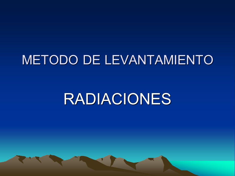 METODO DE LEVANTAMIENTO RADIACIONES
