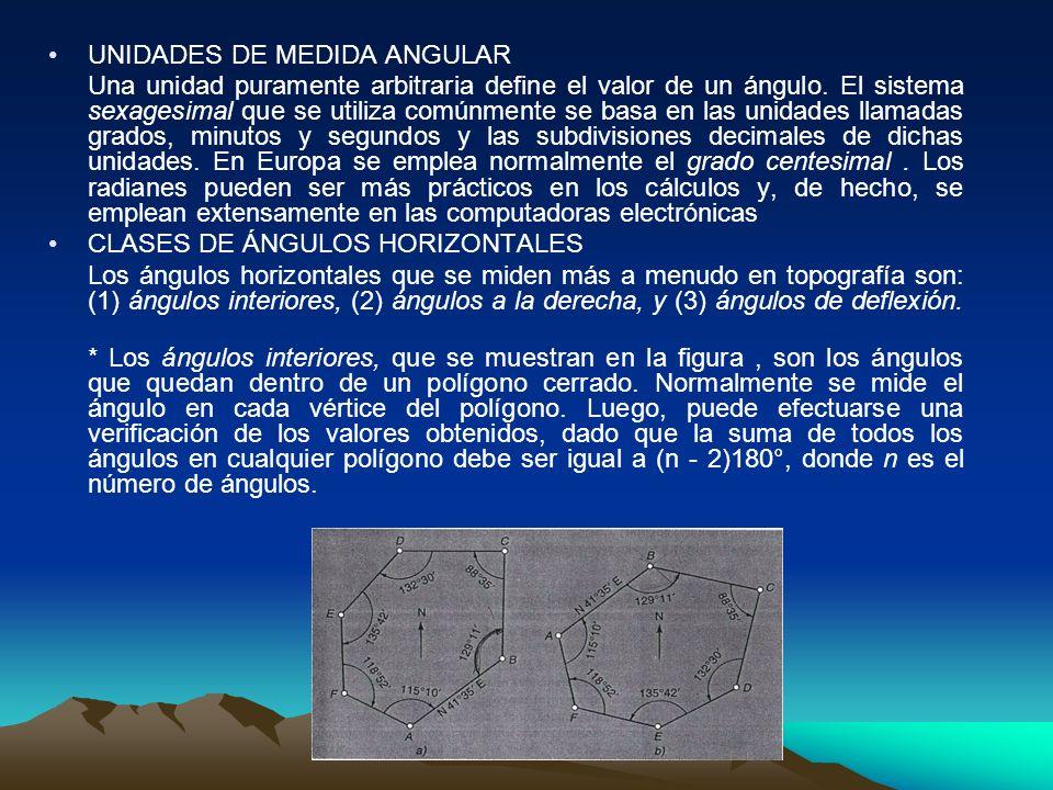 UNIDADES DE MEDIDA ANGULAR Una unidad puramente arbitraria define el valor de un ángulo.