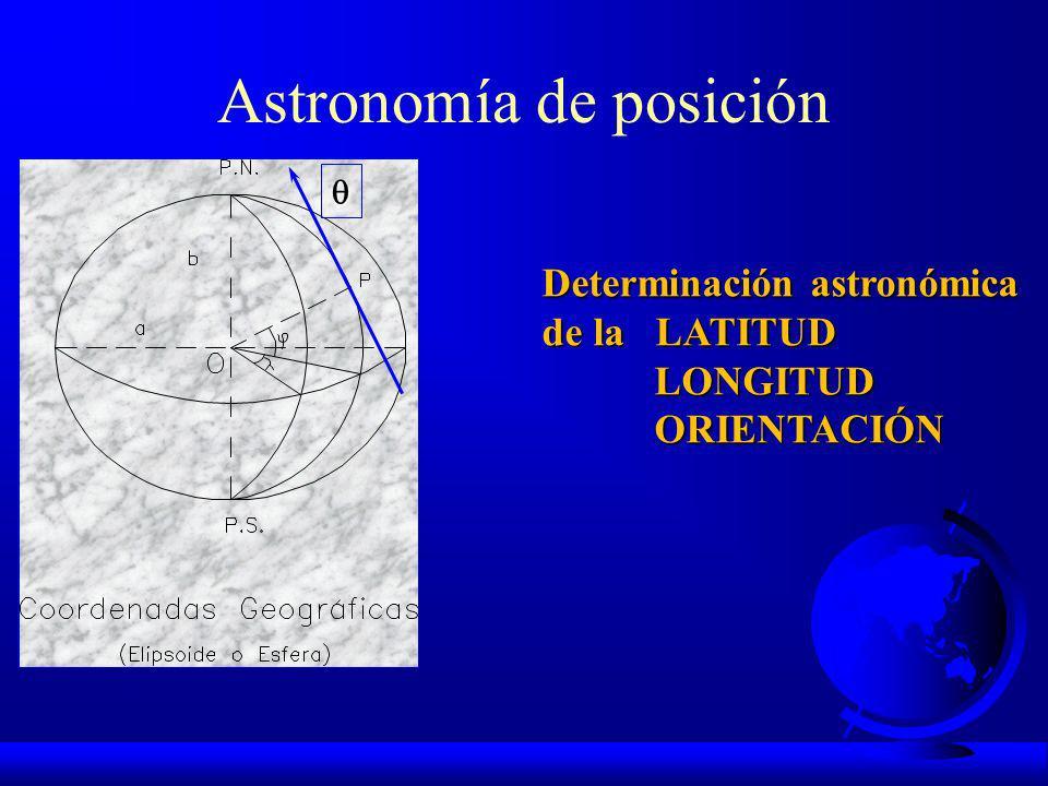 CIENCIAS CARTOGRÁFICAS ASTRONOMÍA DE POSICIÓN GEODESIA CARTOGRAFÍA