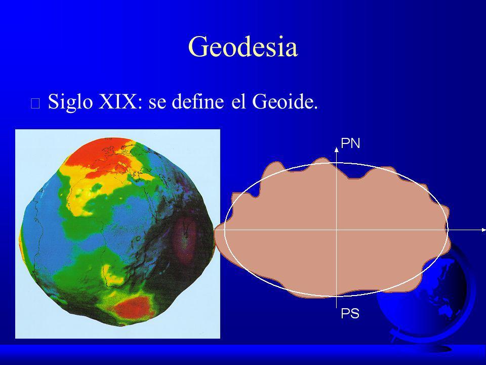 GEODESIA F Siglo XVIII: se acepta el postulado de Newton de Tierra Elipsóidica.