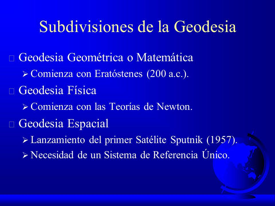 Geodesia F Siglo XIX: se define el Geoide.
