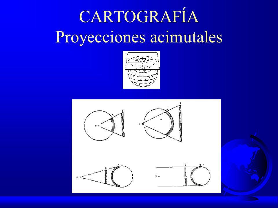 CARTOGRAFÍA F PROYECCIONES CARTOGRÁFICAS: F ACIMUTALES F DESARROLLOS