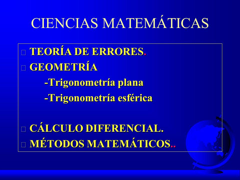 CIENCIAS AUXILIARES F MATEMÁTICAS F ÓPTICA F MECÁNICA F ELECTRÓNICA F INFORMÁTICA F TELECOMUNICACIONES