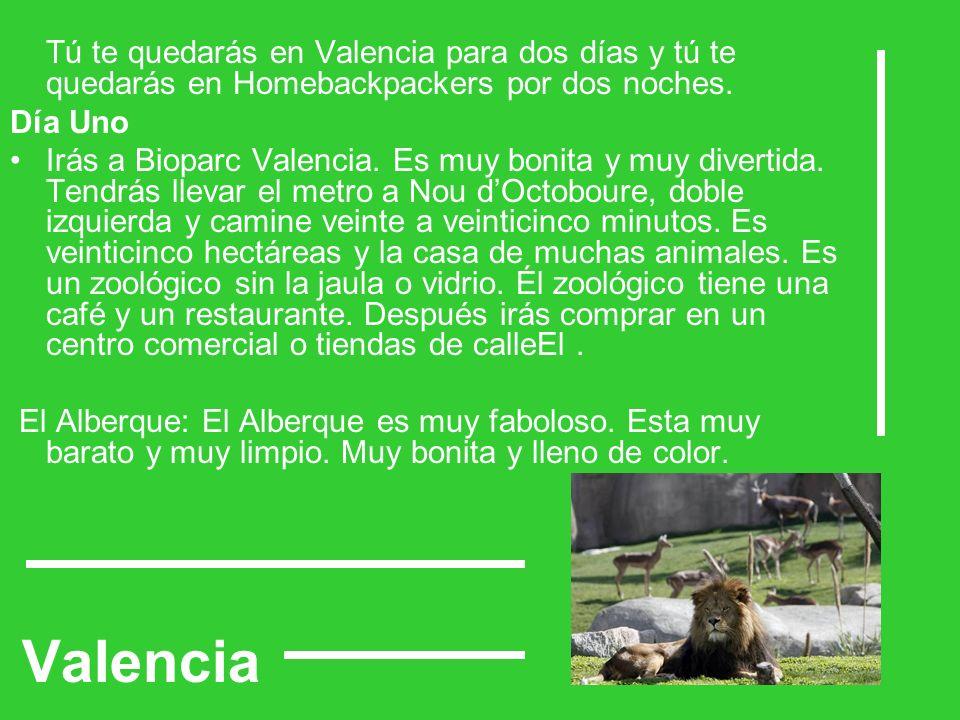 Valencia Tú te quedarás en Valencia para dos días y tú te quedarás en Homebackpackers por dos noches.