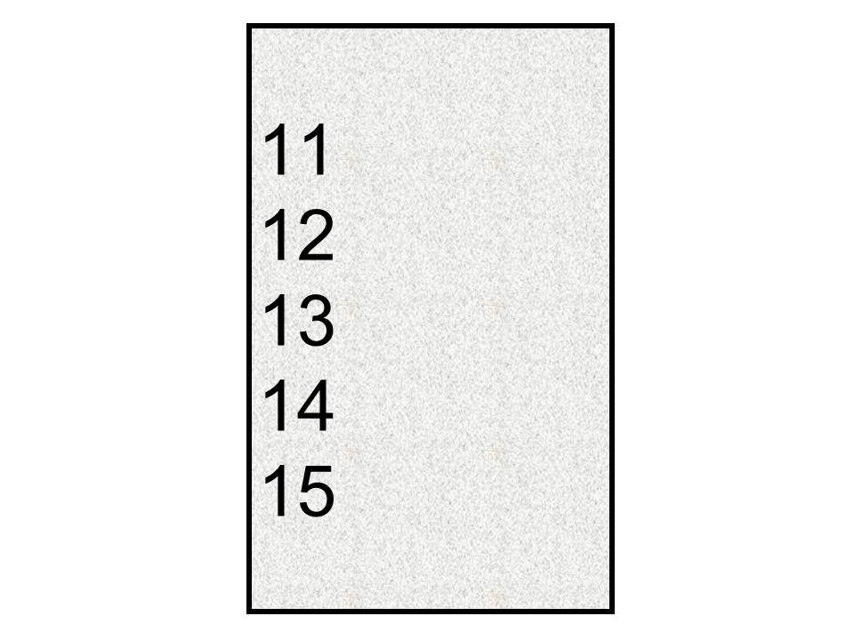 11 12 13 14 15
