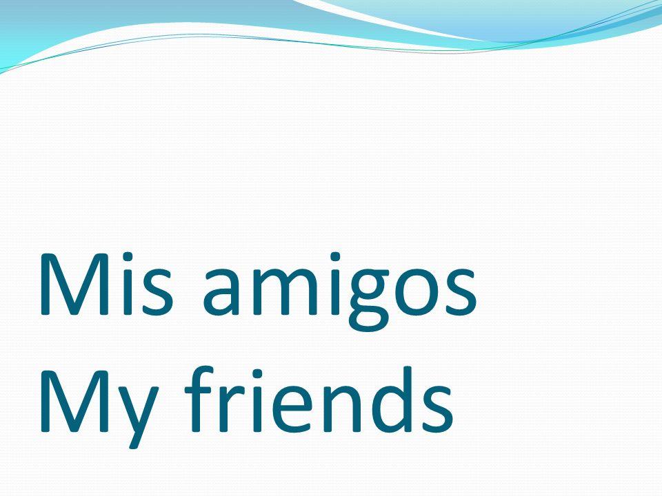 Mis amigos My friends