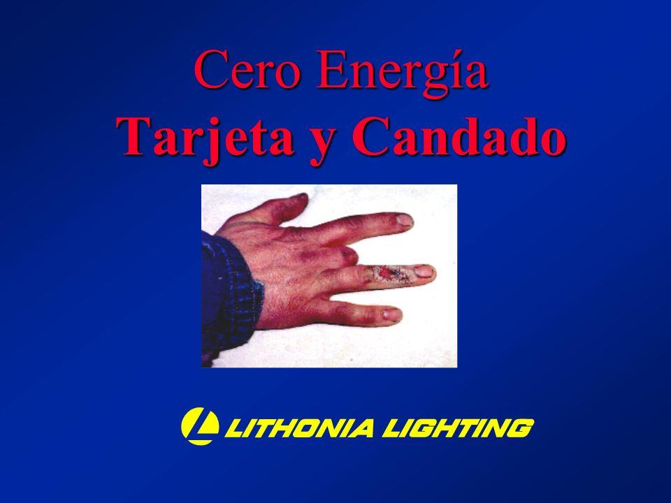 Cero Energía Tarjeta y Candado b MM