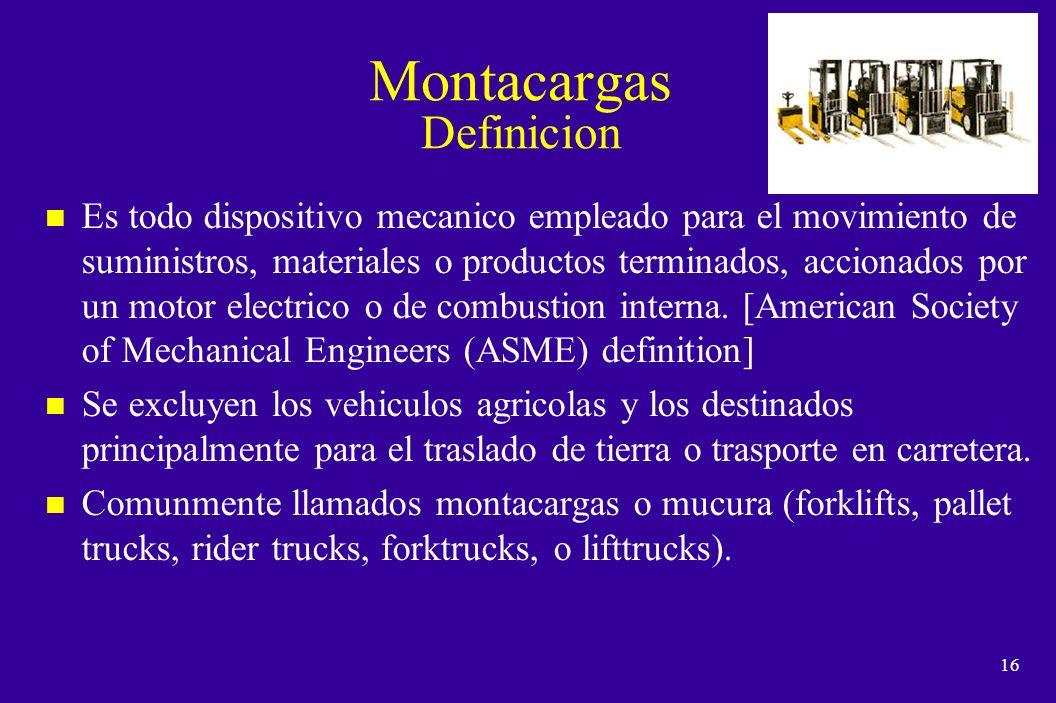 15 Empleado Autorizado n Es aquel que ha realizado la capacitacion requerida de la empresa para la operacion segura de los montacargas, segun el procedimiento PHS00-010.