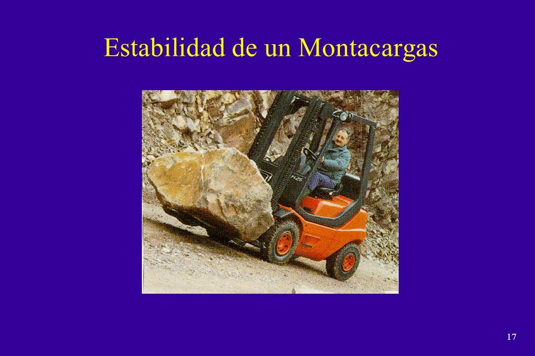 16 Montacargas Definicion n Es todo dispositivo mecanico empleado para el movimiento de suministros, materiales o productos terminados, accionados por un motor electrico o de combustion interna.