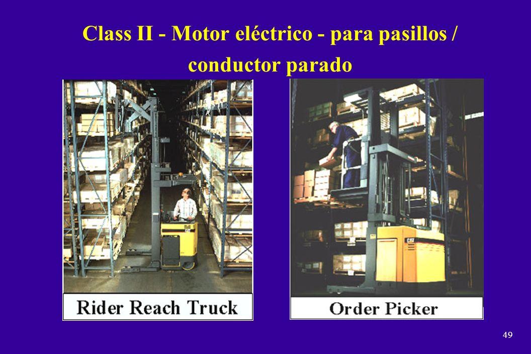 48 Class I - Motor eléctrico / conductor sentado