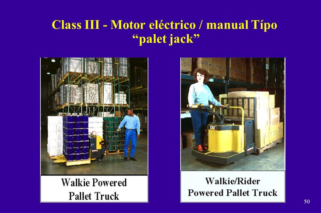 49 Class II - Motor eléctrico - para pasillos / conductor parado