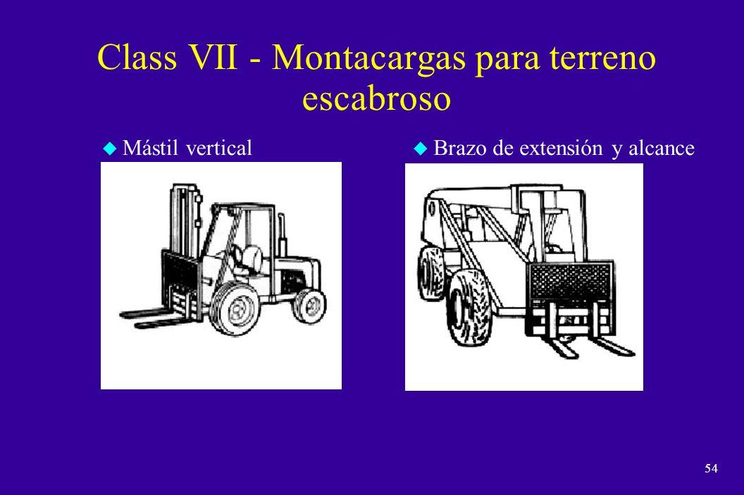 53 Class VI - Tractores eléctricos y de combustión interna Conductor sentado