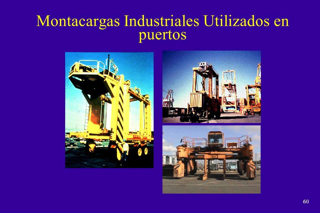 59 Estibador de contenedores de alcance Montacargas Industriales Utilizados en puertos