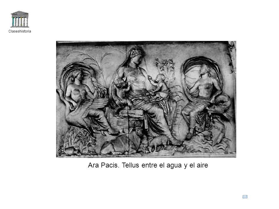 Claseshistoria Ara Pacis. Tellus entre el agua y el aire