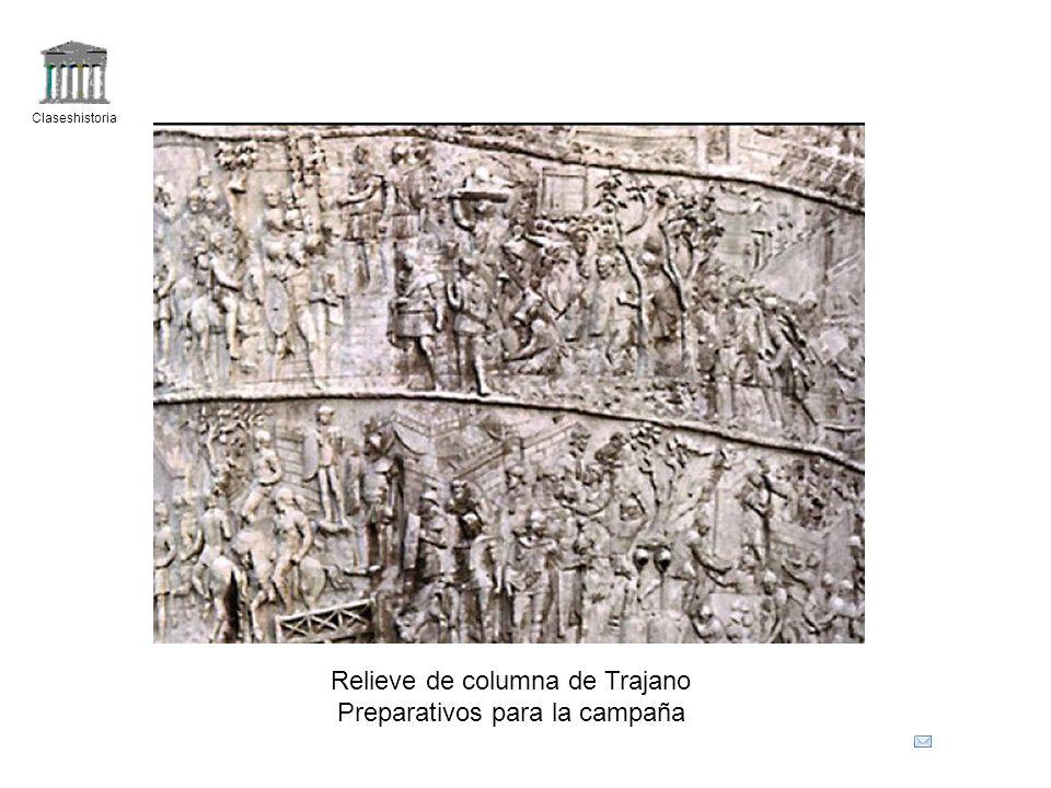 Claseshistoria Relieve de columna de Trajano Preparativos para la campaña