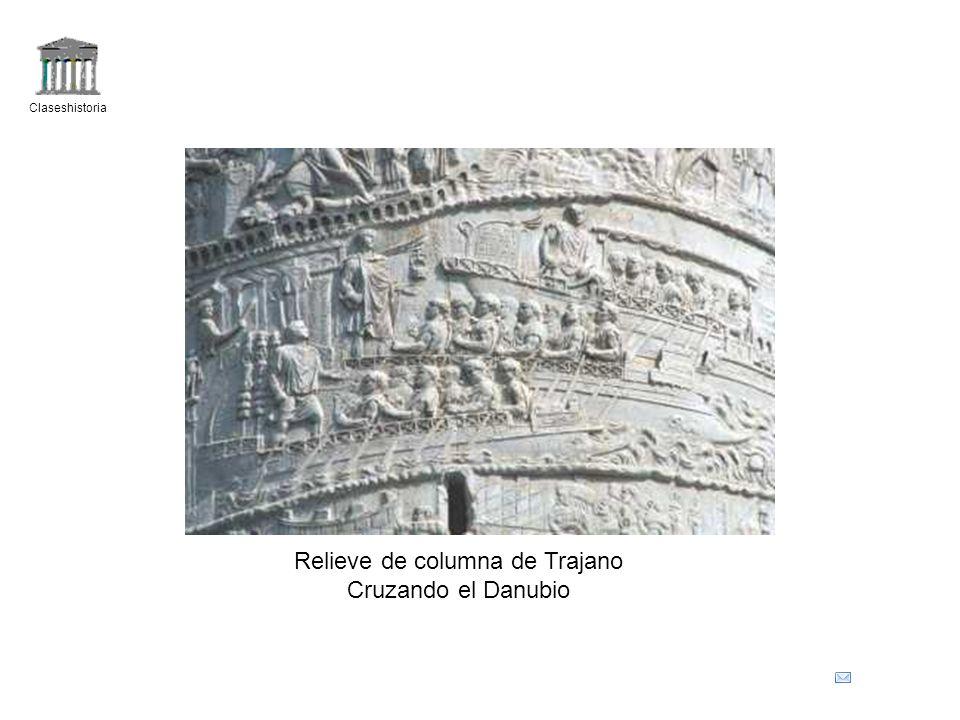 Claseshistoria Relieve de columna de Trajano Cruzando el Danubio