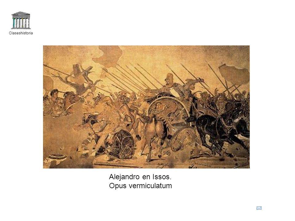 Claseshistoria Alejandro en Issos. Opus vermiculatum
