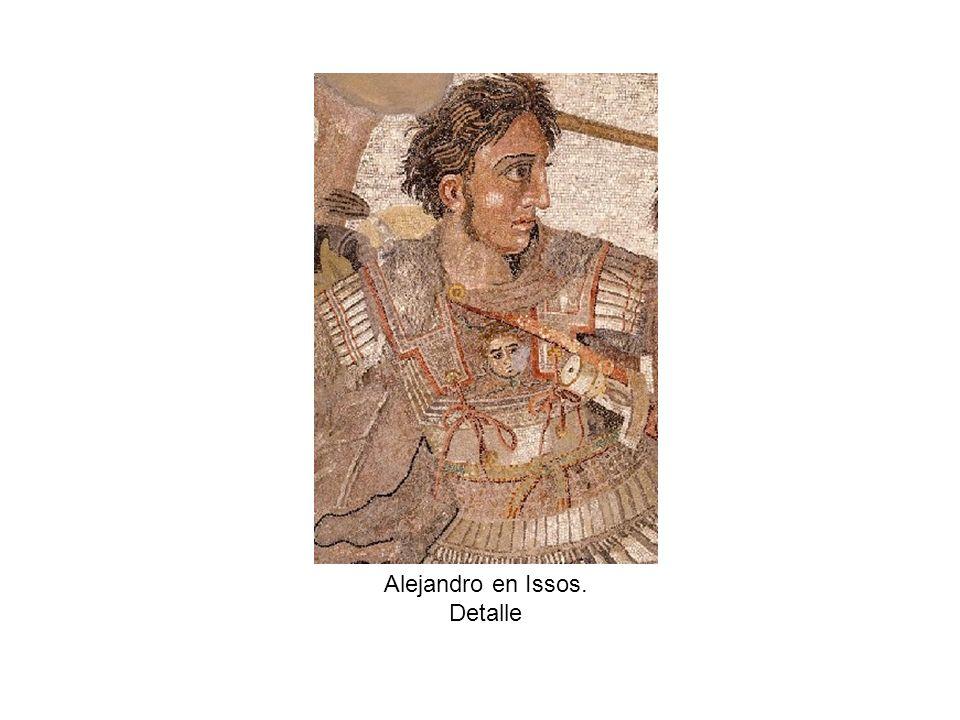 Alejandro en Issos. Detalle