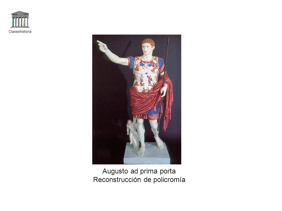 Claseshistoria Augusto ad prima porta Reconstrucción de policromía