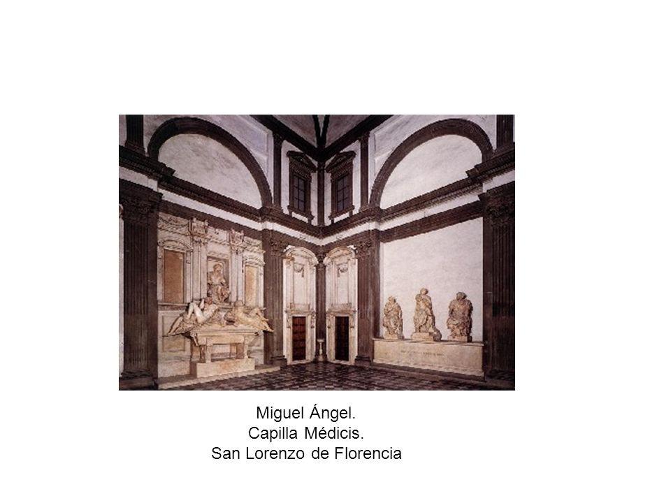 Miguel Ángel. Capilla Médicis. San Lorenzo de Florencia