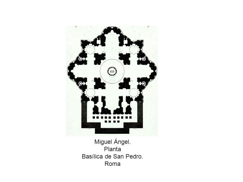 Miguel Ángel. Planta Basílica de San Pedro. Roma