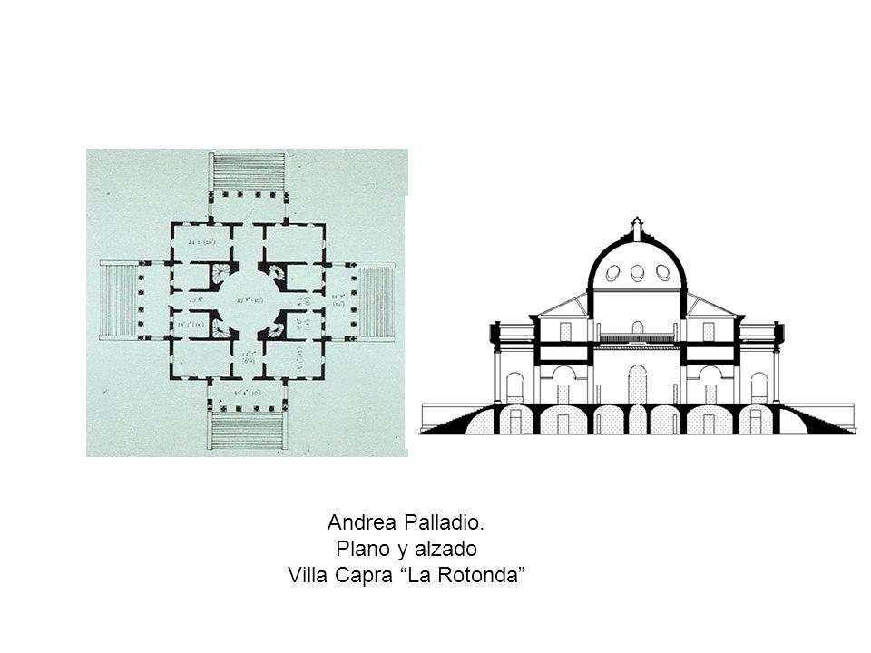 Andrea Palladio. Plano y alzado Villa Capra La Rotonda