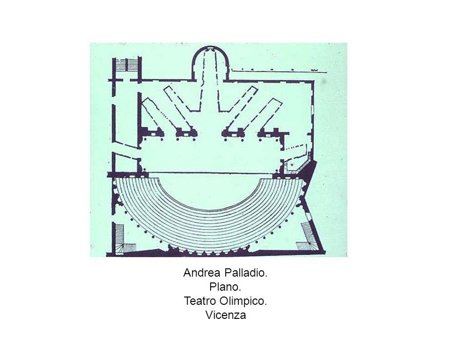 Andrea Palladio. Plano. Teatro Olimpico. Vicenza