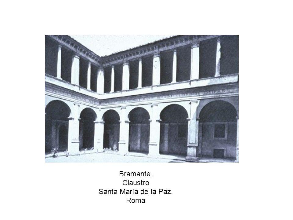 Bramante. Claustro Santa María de la Paz. Roma