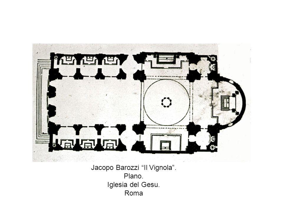 Jacopo Barozzi Il Vignola. Plano. Iglesia del Gesu. Roma