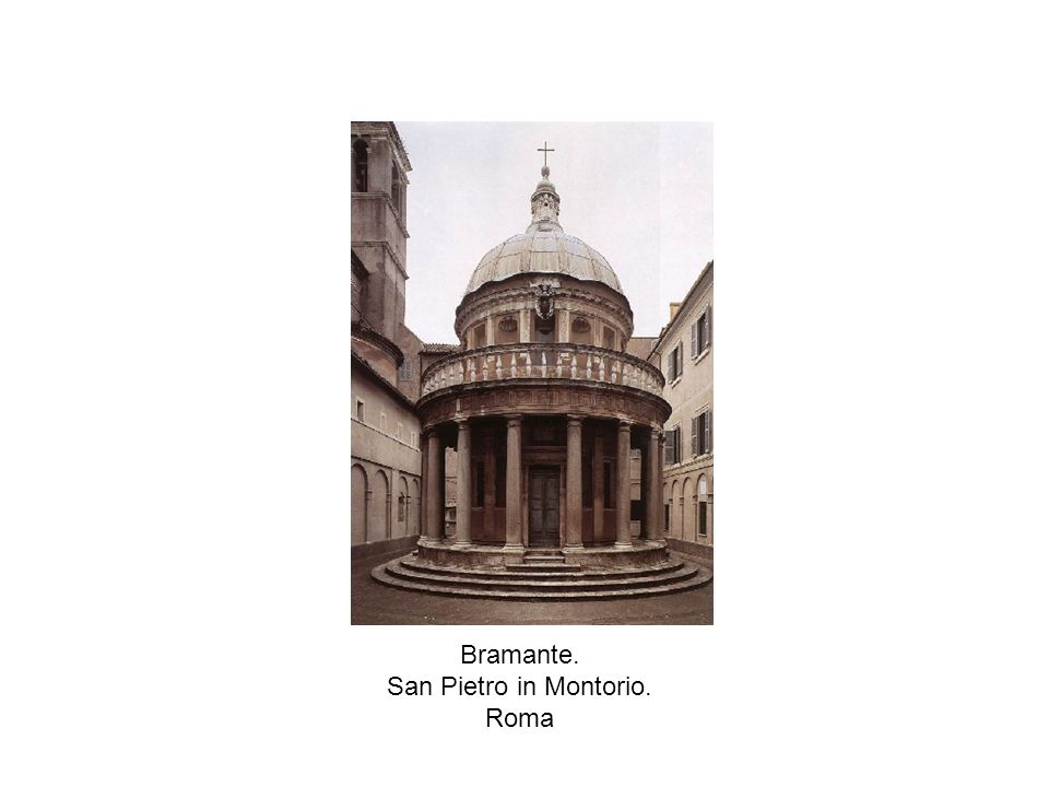 Bramante. San Pietro in Montorio. Planta y alzado
