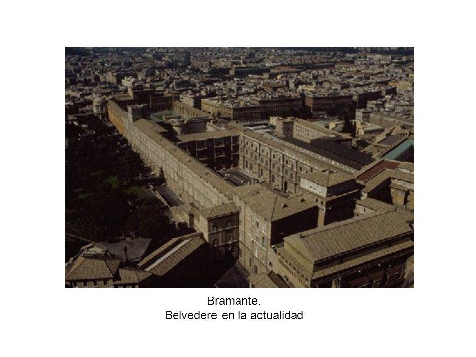 Bramante. Belvedere en la actualidad