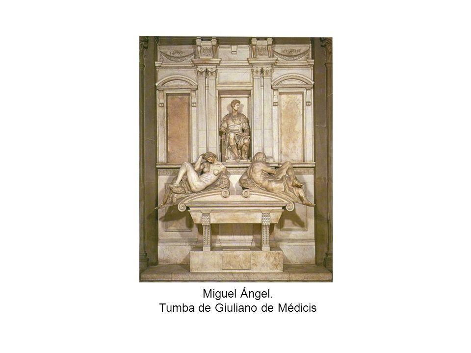 Miguel Ángel. Tumba de Giuliano de Médicis