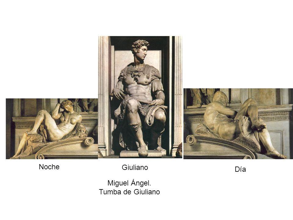 Noche Día Giuliano Miguel Ángel. Tumba de Giuliano