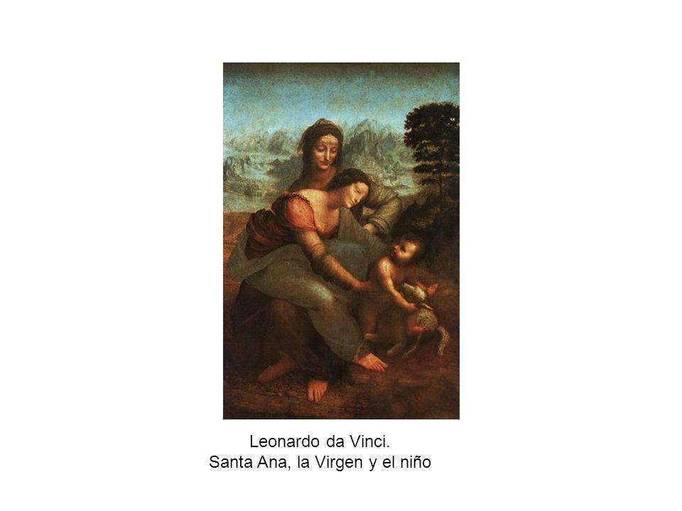Leonardo da Vinci. Santa Ana, la Virgen y el niño