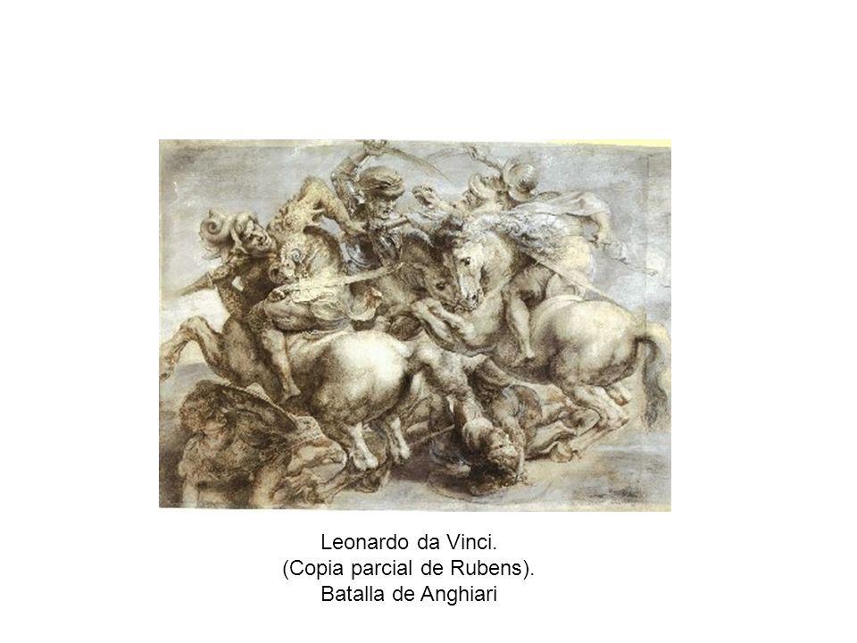 Leonardo da Vinci. (Copia parcial de Rubens). Batalla de Anghiari