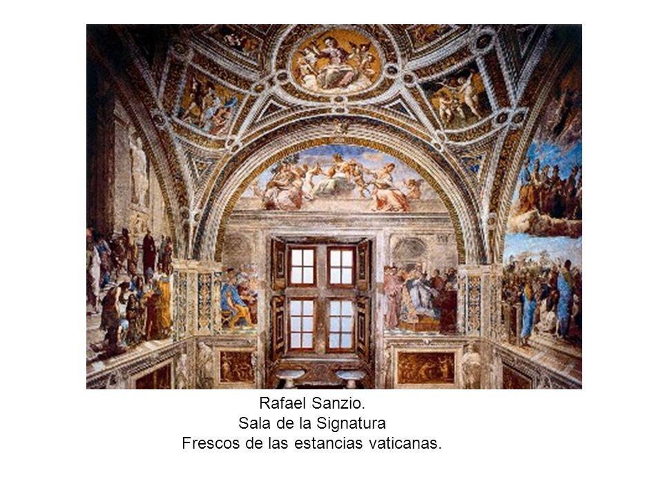 Rafael Sanzio. Sala de la Signatura Frescos de las estancias vaticanas.