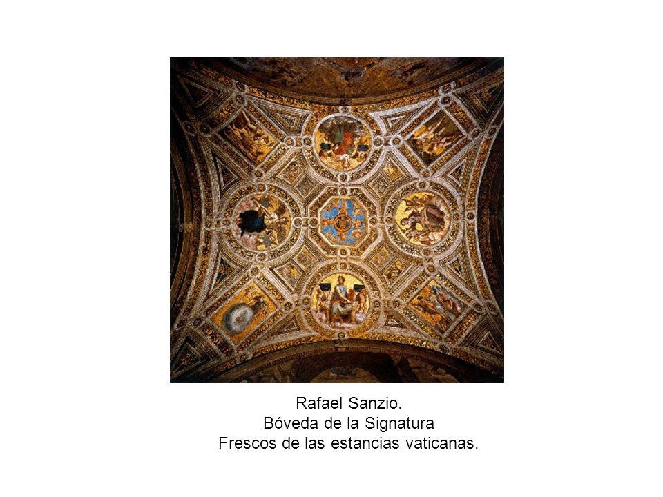 Rafael Sanzio. Bóveda de la Signatura Frescos de las estancias vaticanas.
