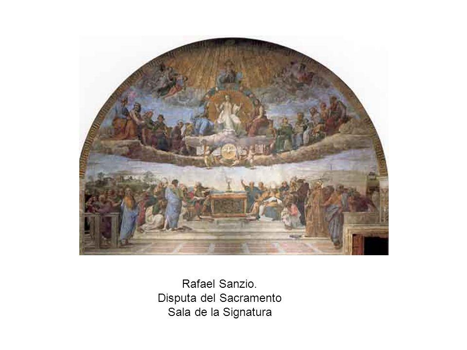 Rafael Sanzio. Disputa del Sacramento Sala de la Signatura