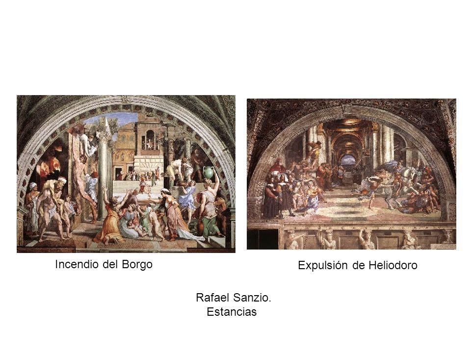 Incendio del Borgo Expulsión de Heliodoro Rafael Sanzio. Estancias
