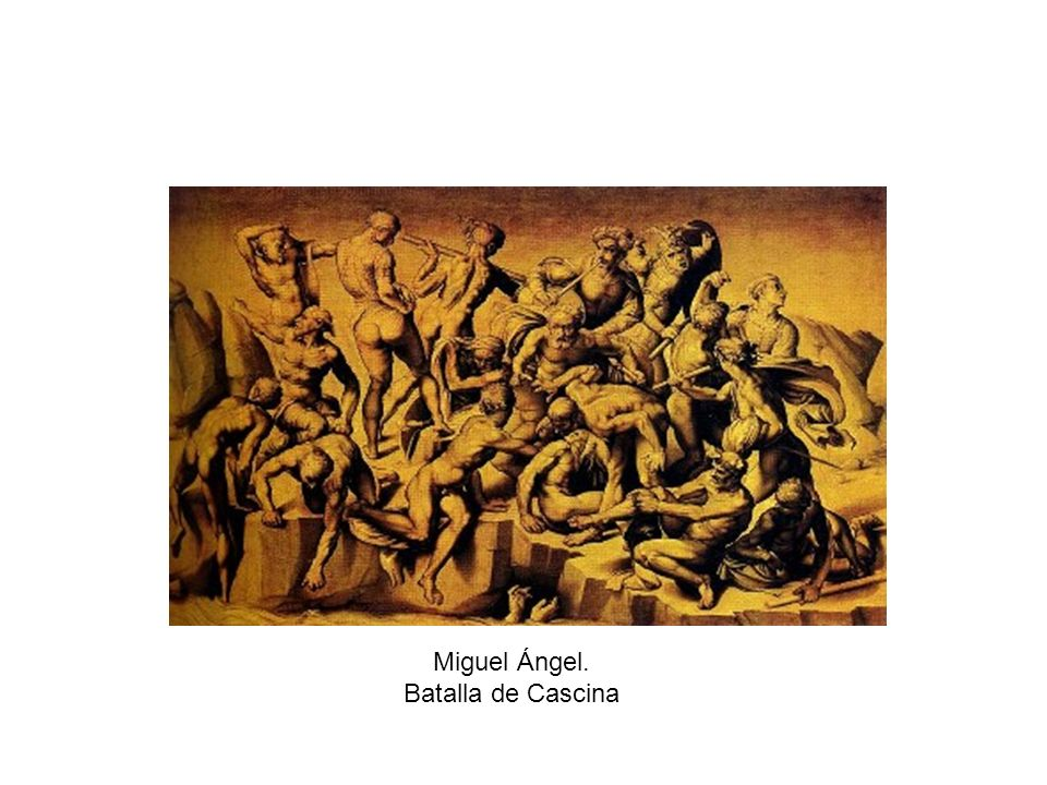 Miguel Ángel. Batalla de Cascina