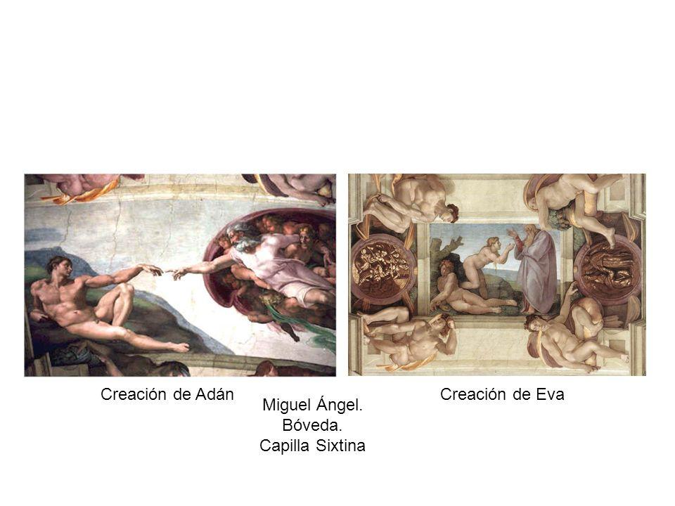 Creación de AdánCreación de Eva Miguel Ángel. Bóveda. Capilla Sixtina