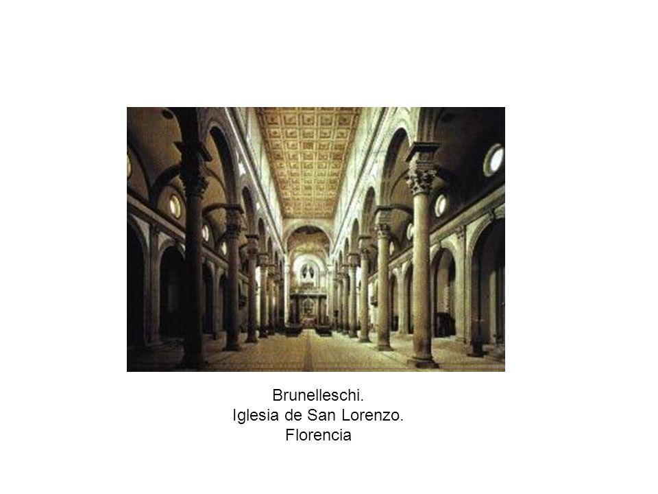Brunelleschi. Iglesia de San Lorenzo. Florencia