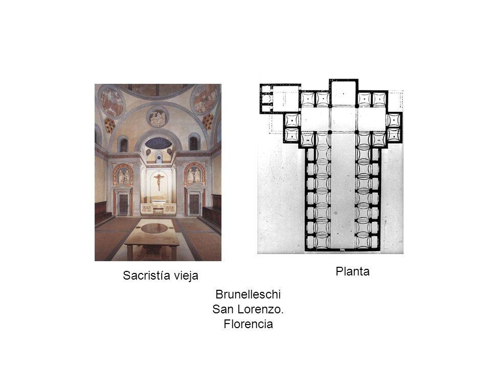 Sacristía vieja Planta Brunelleschi San Lorenzo. Florencia